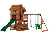 The Liberty backyard playset has an awesome raised