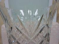 "- Clear to cut pedestal vase - 21"" - 24% lead crystal -"