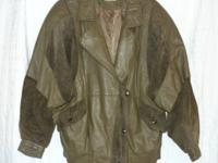 WELL MADE LIKE NEW BAGATELLE HEAVY LEATHER COAT WITH