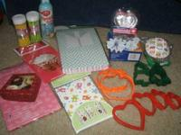 Cupcake/cookie boxes, cupcake liners, cookie cutters,