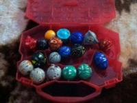 I have 34 total BaKuGan Battle Brawlers In Red & Blue