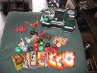 13 Bakugan, 6 Battle Gear, tons of cards, Case, and the