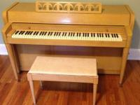 I purchased this piano pre-owned from a local dealer