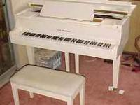 Beautiful D.H. Baldwin Baby Grand Piano with an Ivory