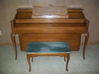 Beautiful Baldwin Console Piano french provincial