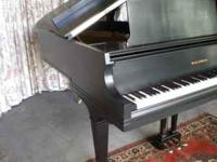 Baldwin Grand Piano, Model L w/ Bench, Satin ebony