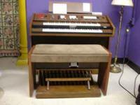 """Baldwin Hammond Organ with Bench. Organ measures 48"""""""