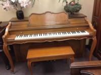 "Baldwin Acrosonic Spinet with bench and ""cabriole"""