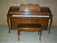 Baldwin Upright/Spinet Piano french provincial style