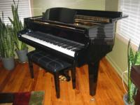 BALDWIN WURLITZER BEAUTIFUL EBONY FINISH GRAND PIANO