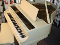 Magnificent condition Baldwin Baby Grand Ivory white
