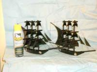 Have two ships made of whale baleen for sale. Asking