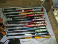 i have several ball bats and gloves for $5 each if