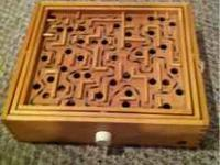 A great lightly used ball labyrinth. Real wood, you