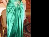 Beautiful jewel green ball gown size 8 I paid $180