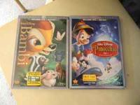 For Sale: Bambi and Pinicchio in the Blue Ray and DVD