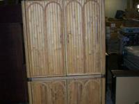Really good Bamboo armoire in wonderful shape.  come