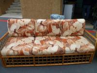 Description Bamboo couch - They are brown, tan and
