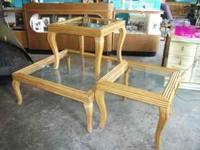 This set of bamboo occasional tables are stunning and a