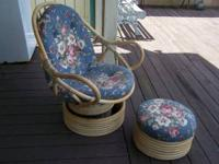 Cute & Comfortable Lasting Bamboo Swivel/Rocker. Great