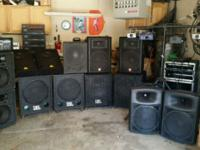 Various band equipment, pa's, guitar amps, bass amps,