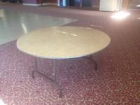 For Sale: (12) 5ft diameter banquet tables (King