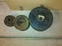Free weights - 15 lb bar + 155 lbs of free weights. 4