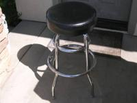 We have 12 used Chrome Double Ring Backless Bar Stools