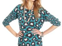 Allover leopard print adds a cool pop of pattern to