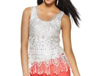Metallic crochet lends a stylish upgrade to the tank