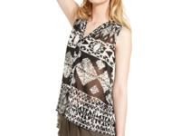 Go for tribal-inspired style with this Bar III chiffon