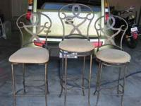I have for sale 3 Tuscan Style bar or kitchen stools.