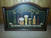 This is a very nice collectable Bar Mirror Hand Painted