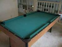 "This is a Harvard ""bar sized"" pool table (3 feet by 6"