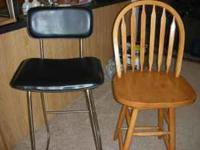 Up for sale are 2 Bar Stools in good shape. Please