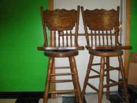 2 swivel bar stools in decent shape call  Location: