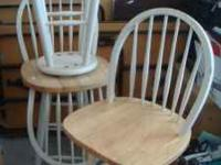 3 swivel bar stools  Location: Frederick