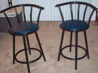 A pair of bar stools I bought that I don't have space