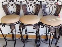 I have 3 nice heavy oil rubbed bronze barstools in good