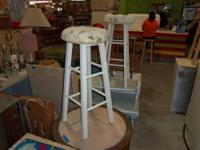 BAR STOOLS OF ALL KINDS SOME WITH CUSHIONS SOME WITH