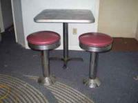 I have 2 Bar Tables with 4 Stools that I would like to
