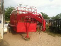 5 lug tandem axles.red and white bar top livestock
