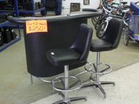 Rate: $250 OBOBlack bar with 2 swivel stools. Normal