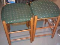 Two bar stools nice shape,$15 OBO.I do not deliver.you