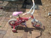 Super PINK Barbie bike 12 in wheels, with training