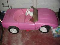 Power wheels Motorized Barbie Car. two good batteries