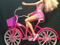 Barbie doll and bicycle set. An ideal gift for any