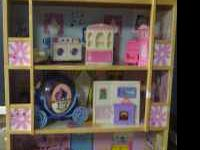 Barbie House with some furniture, barbie carrying box,