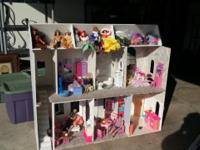 A little girls Christmas wish dream Barbie house. 2