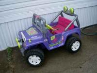Pink Barbie Jeep battery works great and everything